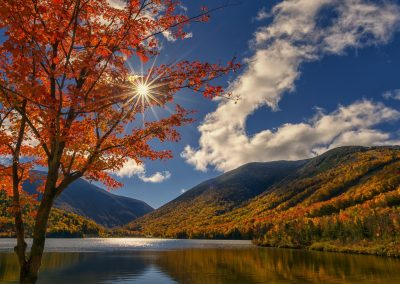 Echo Lake in The Fanconia Notch - White Mountains