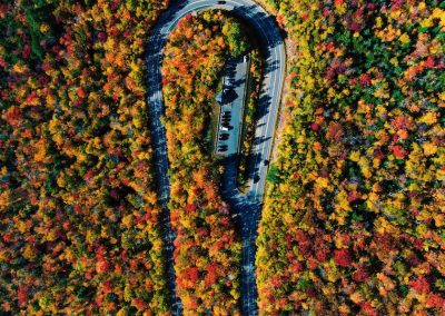 Kancamagus Highway - Now that's a hairpin turn!